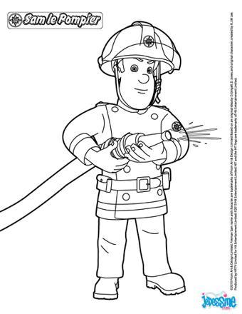 coloriage en ligne sam le pompier