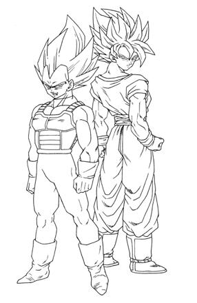 coloriage gratuit dragon ball z