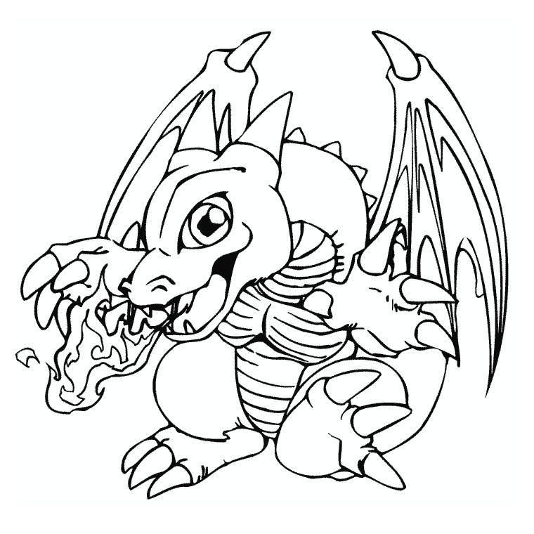 coloriage gratuit dragon