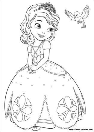 coloriage gratuit princesse sofia