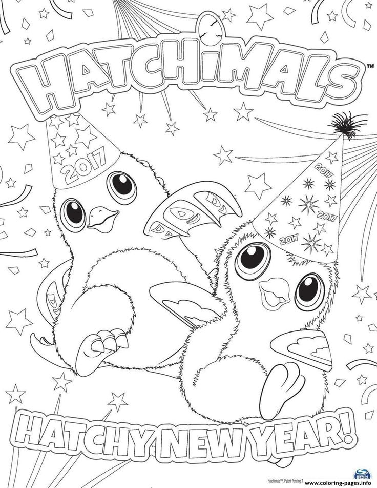 coloriage hatchimals