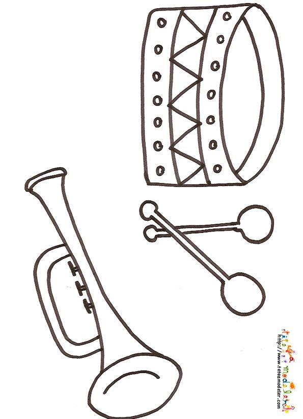 coloriage instrument de musique