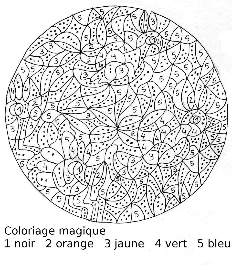 coloriage magique adulte