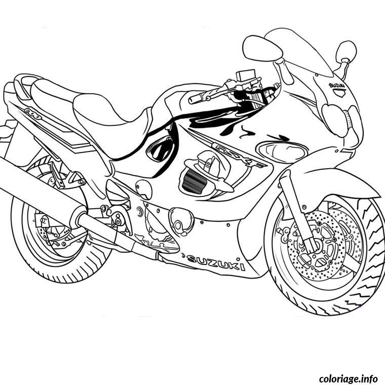 coloriage moto gratuit