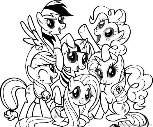 coloriage my little pony gratuit