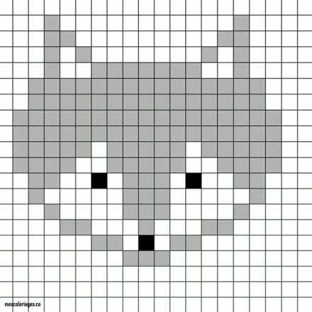 coloriage pixel art