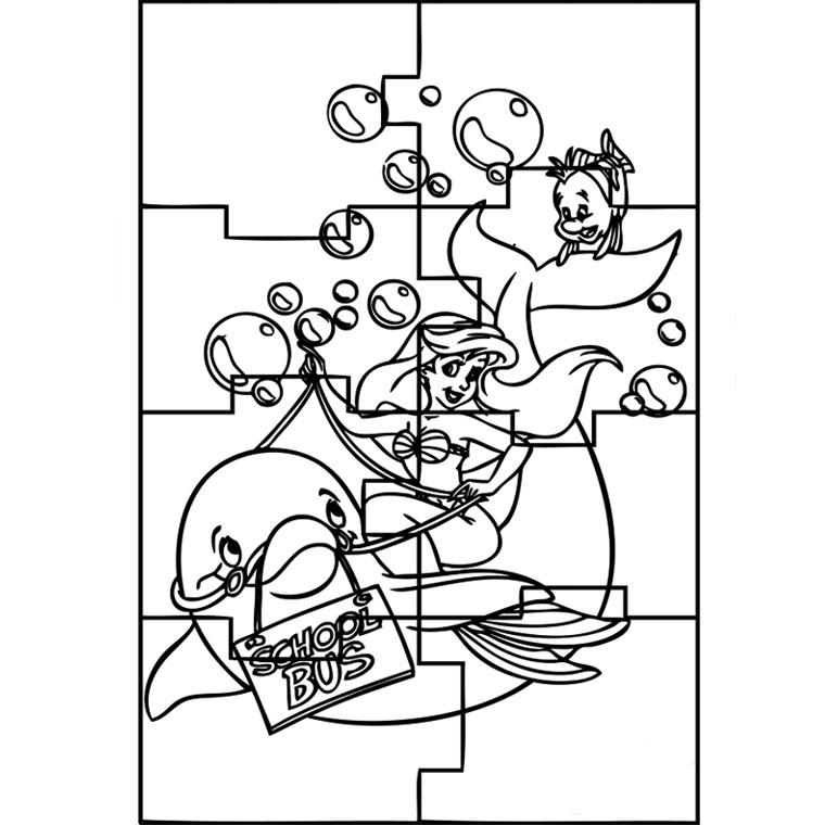 coloriage puzzle