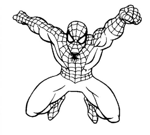 coloriage spiderman facile