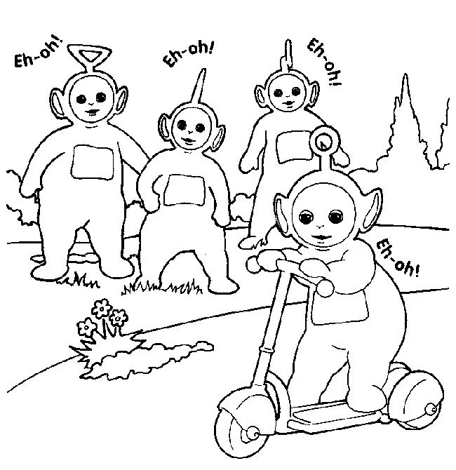 coloriage teletubbies