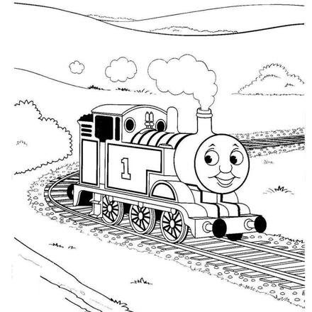 coloriage train thomas