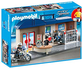 commissariat transportable playmobil