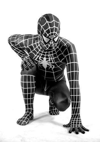 costume spiderman noir adulte