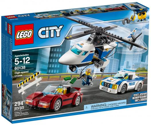 course poursuite helicoptere lego