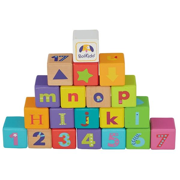 cube en bois jouet