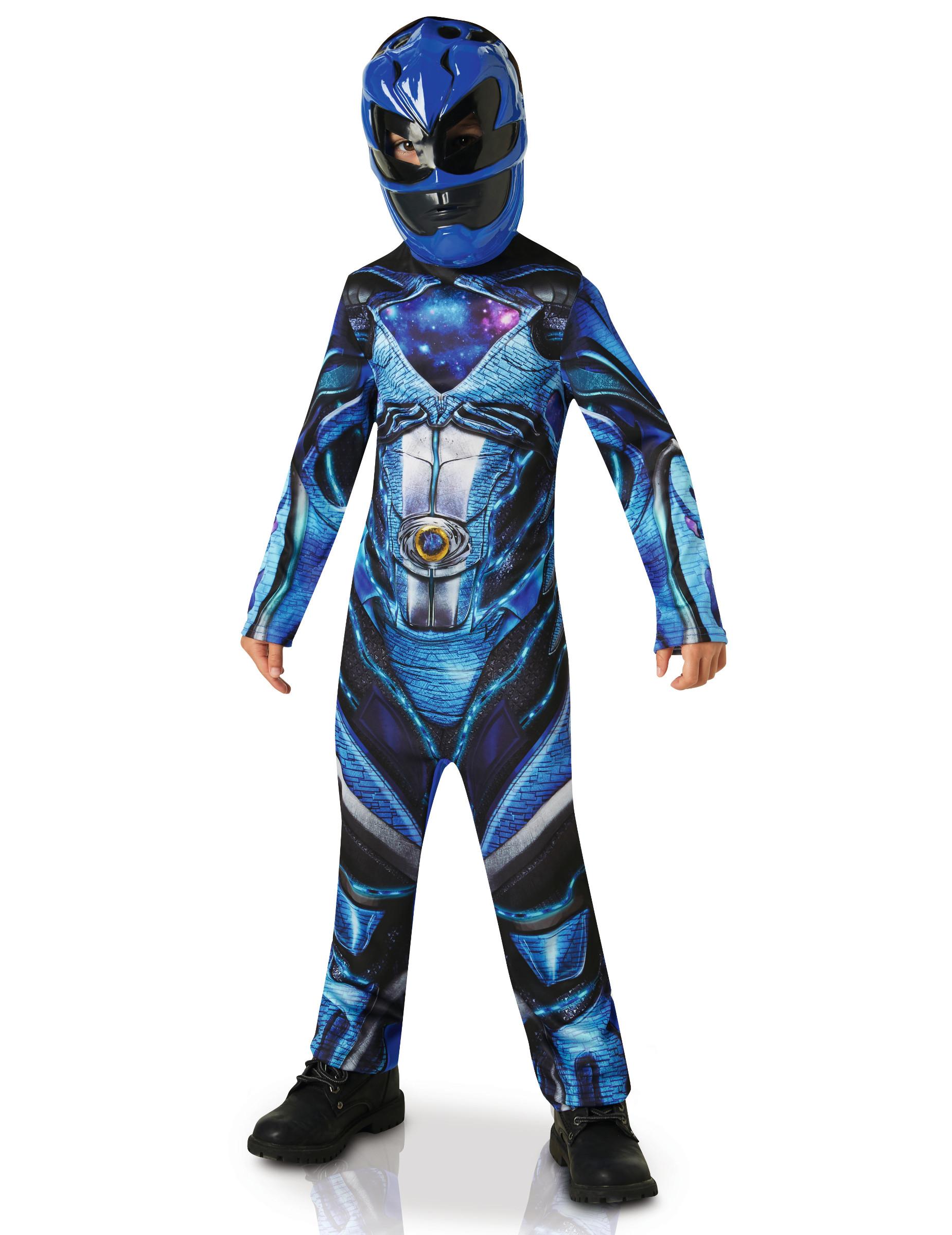 déguisement power rangers bleu