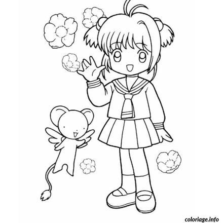 dessin à colorier fille