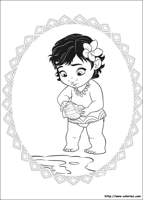 dessin à colorier vaiana