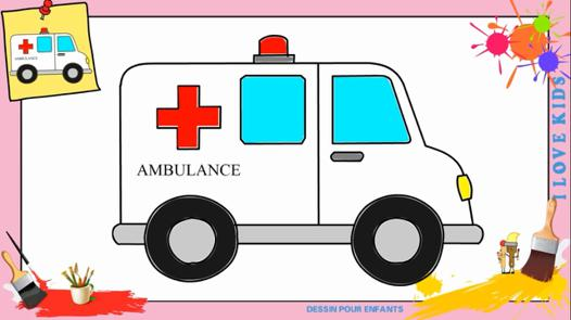 dessin ambulance