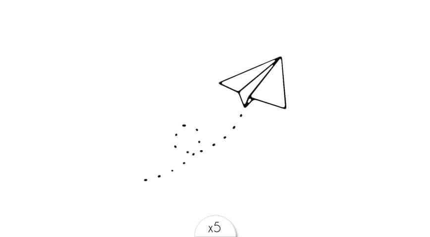 dessin avion en papier