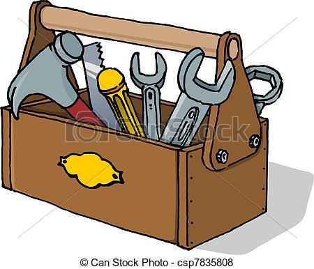 dessin caisse à outils