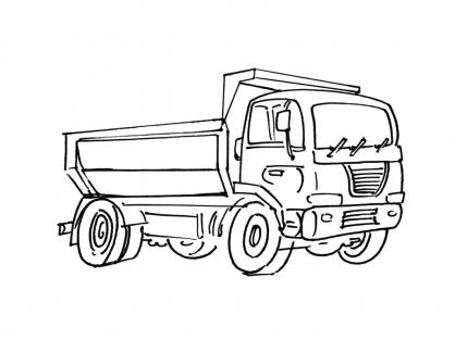 dessin camion benne