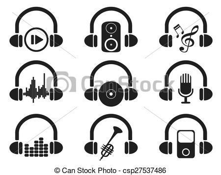 dessin casque musique