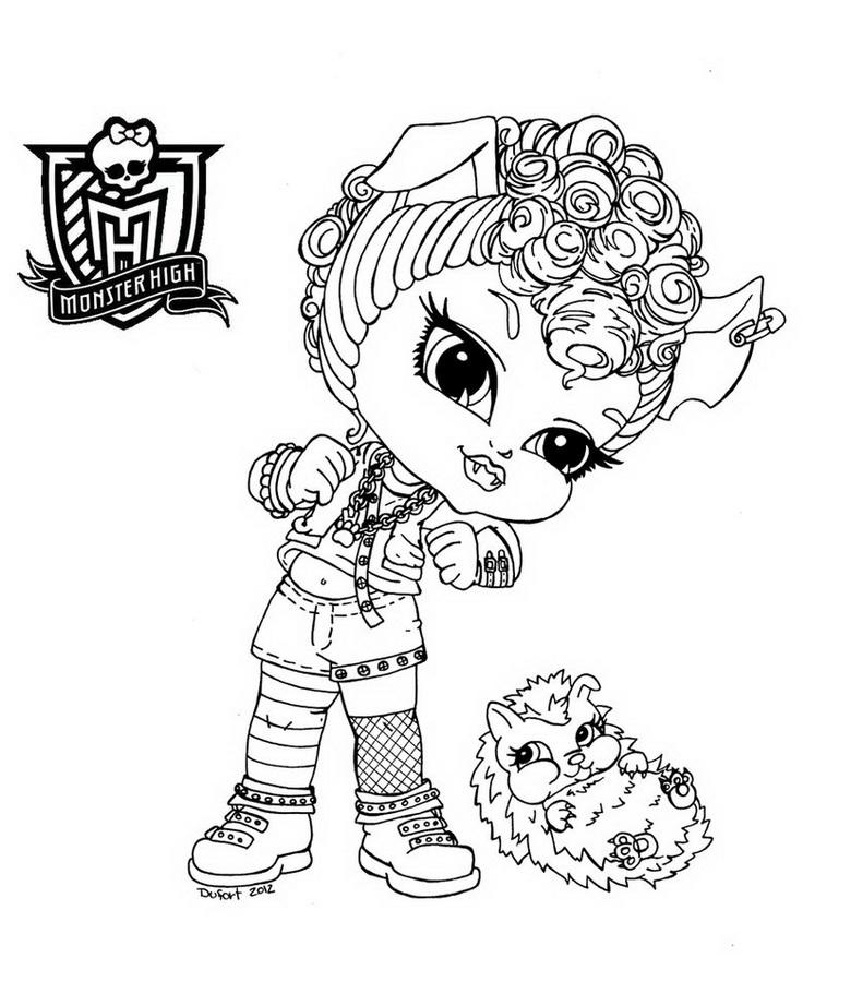 dessin de bébé monster high