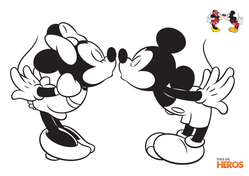 dessin de minnie et mickey
