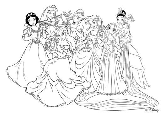 dessin de princesse disney