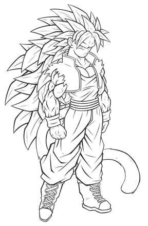 dessin dragon ball z sangoku super sayen 5