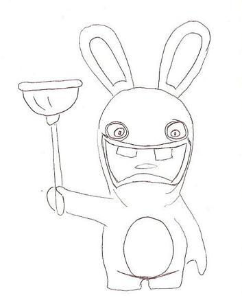 dessin lapin cretain