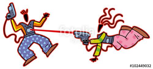dessin laser game