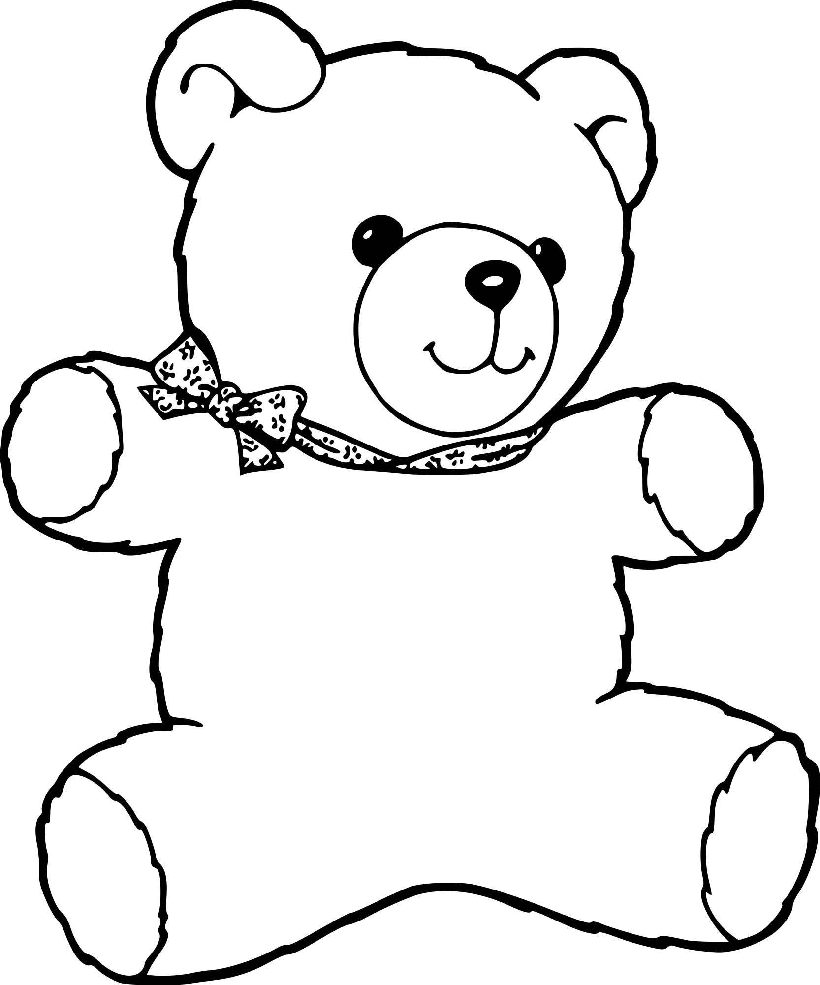 dessin ours en peluche
