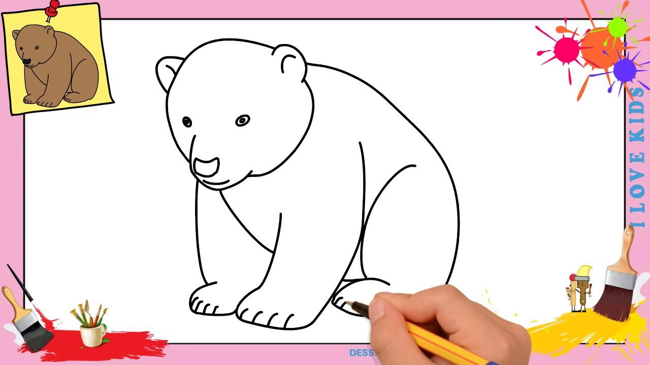 dessin ours facile