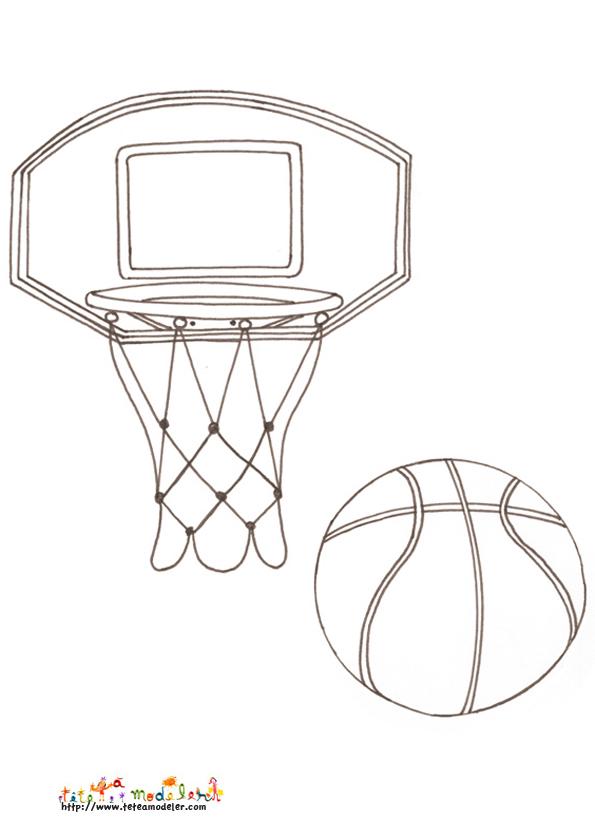 dessin panier de basket