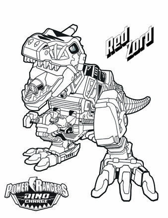 dessin power rangers dino charge