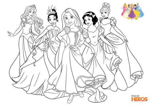 dessin princesses disney