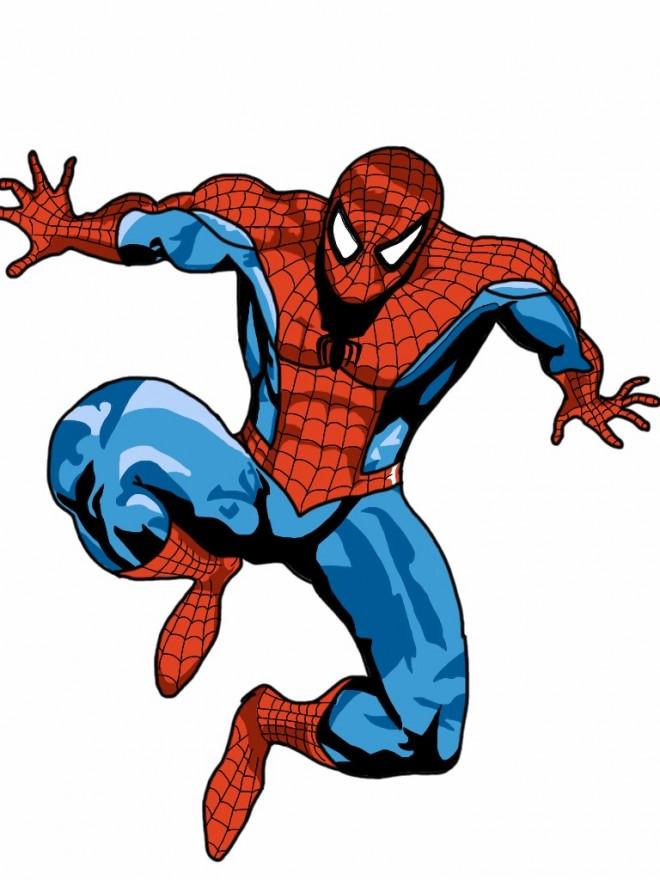dessin spiderman couleur