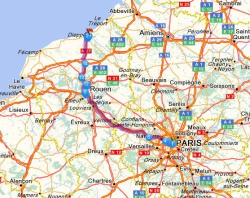 dieppe to paris train