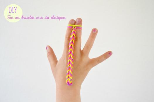 faire des bracelets en élastique