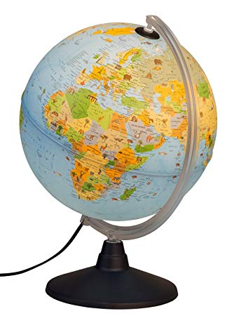 globe terrestre lumineux enfant