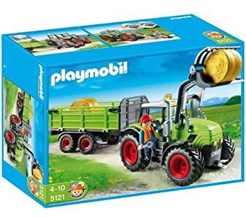 grand tracteur avec remorque playmobil