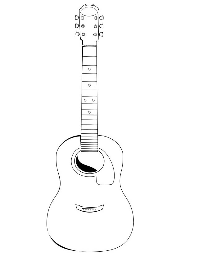 guitare coloriage