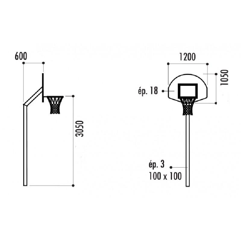 hauteur panneau basket