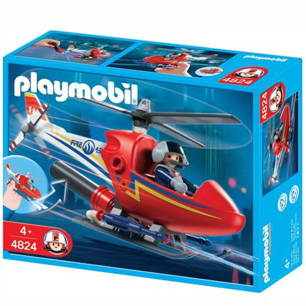 helicoptere pompier playmobil
