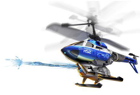 hélicoptère radiocommandé qui lance de l eau