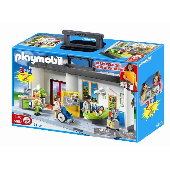 hopital transportable playmobil