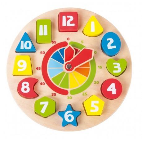 horloge bois enfant