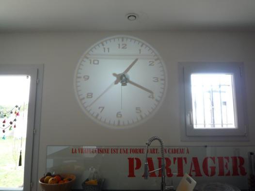 horloge retroprojecteur