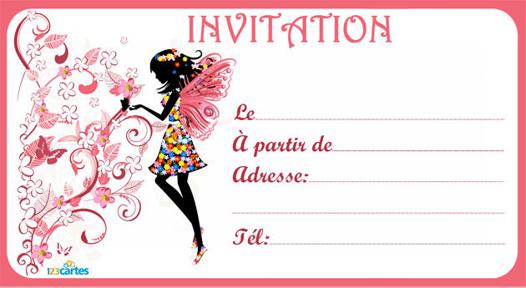 invitation anniversaire carte